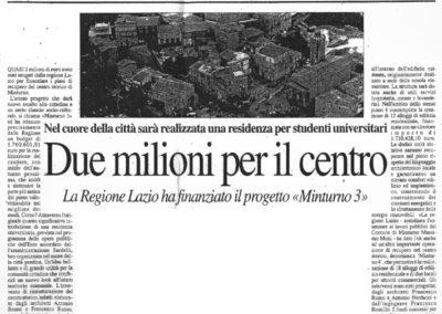 Minturno - finanziamento M3 (Latina Oggi)